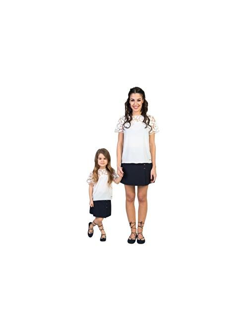 Familylook Bluz Beyaz